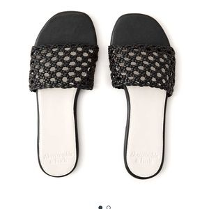 Abercrombie&fitch Woven Slide Sandals
